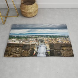 View of Edinburgh, Scotland from Edinburgh Castle Rug