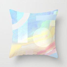 Shore Synth #2 Throw Pillow