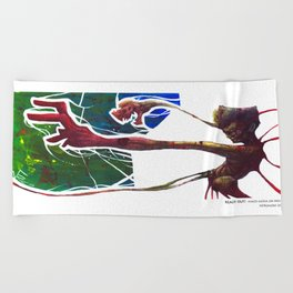 Reach Out Beach Towel