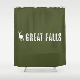 Deer: Great Falls, Montana Shower Curtain