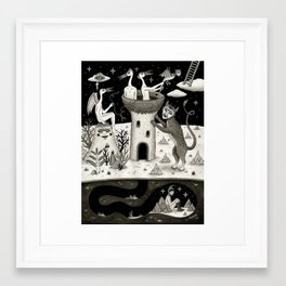 Scissors, String and Solitude  Framed Art Print