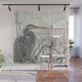 Heron blanket Wall Mural