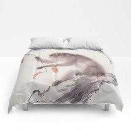 Monkey Vector After Hashimoto Kansetsu Comforters