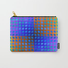 Rainbow Squares Victor Vasarely Style 2 Carry-All Pouch