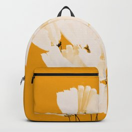 Flowers In Tangerine Backpack