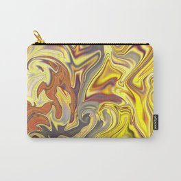 Wild Yellow Madness Liquid Marble Carry-All Pouch