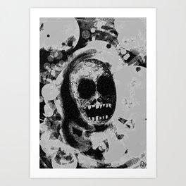 Fadin' grey Art Print