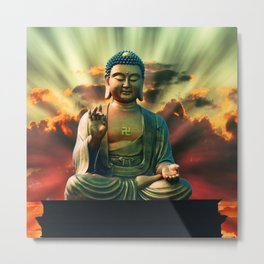 Buddha Sunrise Metal Print