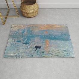 Claude Monet Impression Sunrise Rug