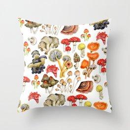 Mushroom Patterns Throw Pillow