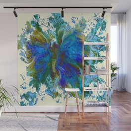 Butterflies are free in teal, blue, green and cream Wall Mural