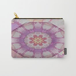 Soft Lavender Floral Kaleioscope Carry-All Pouch