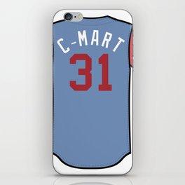 Chris Martin Players' Weekend Jersey iPhone Skin