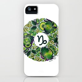 Capricorn in Petrykivka Style (with signature) iPhone Case