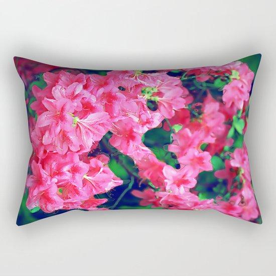 Pink azalea blooms. Rectangular Pillow