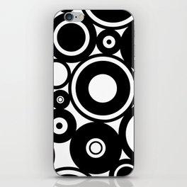 Retro Black White Circles Pop Art iPhone Skin