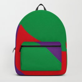 Important meeting of two halves of a nut; one is green, the other's purple. Backpack