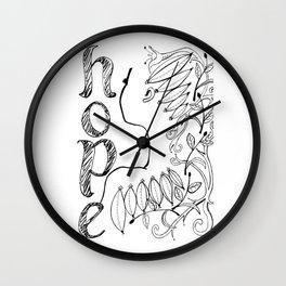 Her Hope Wall Clock