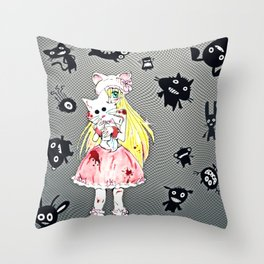 Pretty in Bloody Pink Throw Pillow
