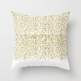 Gold Confetti Sparkle and Shine Throw Pillow