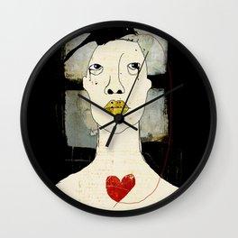 « l'amour comme un oiseau noir » Wall Clock