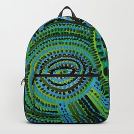 turquoise circus Backpack