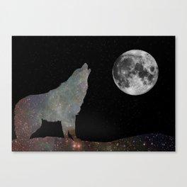 Galaxy Wolf Canvas Print
