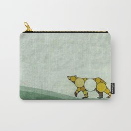 Fractal Golden Brown Bear Carry-All Pouch