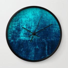 Denim & Turq Distressed Concrete Texture Wall Clock