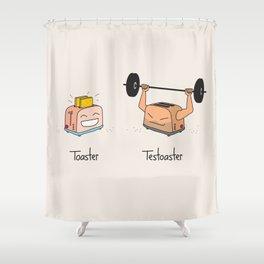 Toaster and Testoaster Shower Curtain