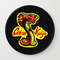 kaiju Wall Clocks featuring Cobra Kaiju by Tabner's