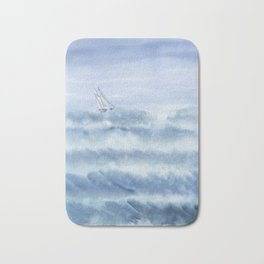 Rough Sea Bath Mat