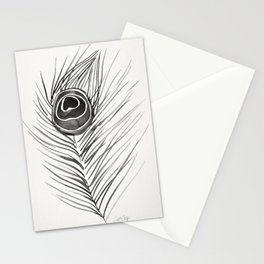 Peacock Feather – Black Palette Stationery Cards
