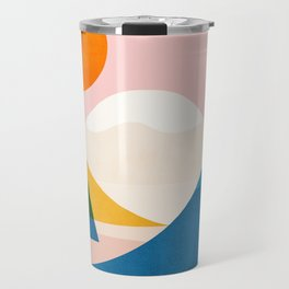 Abstraction_Lake_Sunset_Minimalism_002 Travel Mug