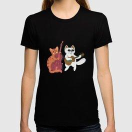 Cat Lover  Violin Cello Gift T-shirt