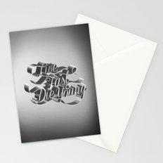Live Fast Die Young - Black and White Stationery Cards