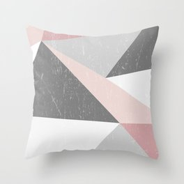 Grunge Geometric Retro Pattern Throw Pillow