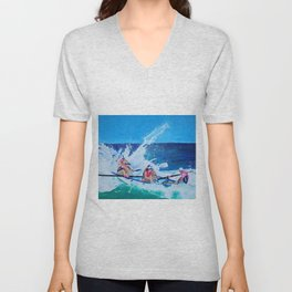 Surf Boat Rowers Unisex V-Neck