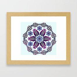 Chicory  Mandala Framed Art Print