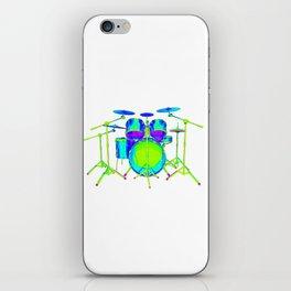 Colorful Drum Kit iPhone Skin