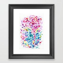 Abstract Roses 2 Framed Art Print