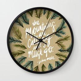 Mountains Calling – Kraft Wall Clock
