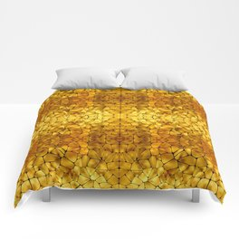 Gold Tortoise Shell Pattern Comforters