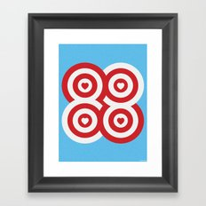 CRAZY EIGHTS Framed Art Print