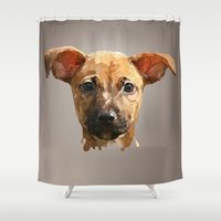 chihuahua Shower Curtains featuring Chihuahua by LR creative