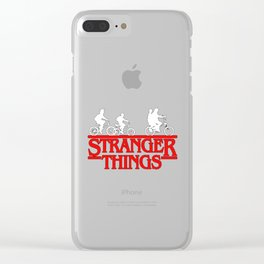 Stranger Thing Bike Clear iPhone Case