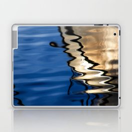 Blue white abstract Laptop & iPad Skin