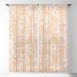 Appleflowers Sheer Curtain