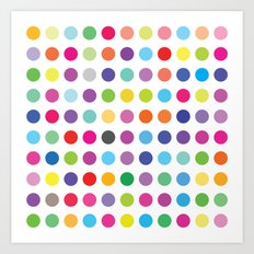 Colourful Dots  Art Print