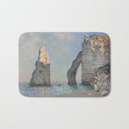 The Rock Needle and the Porte d'Aval by Claude Monet Bath Mat